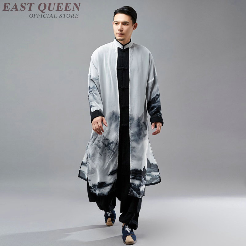 Traditional chinese dress men clothing 2018 asian clothes men chinese culture traditions linen shirts men KK2264