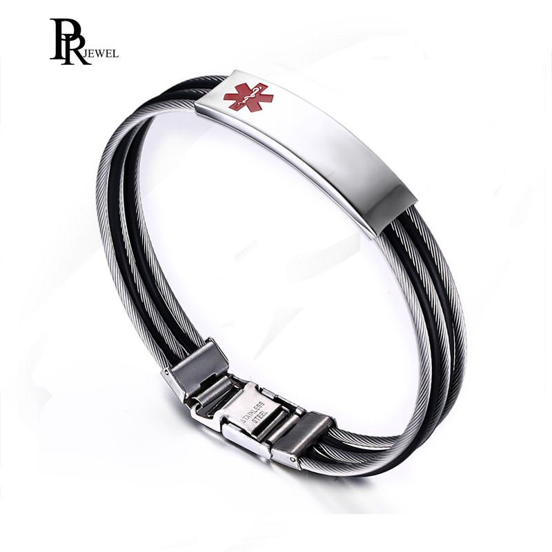 Men Stainless Steel Cable...