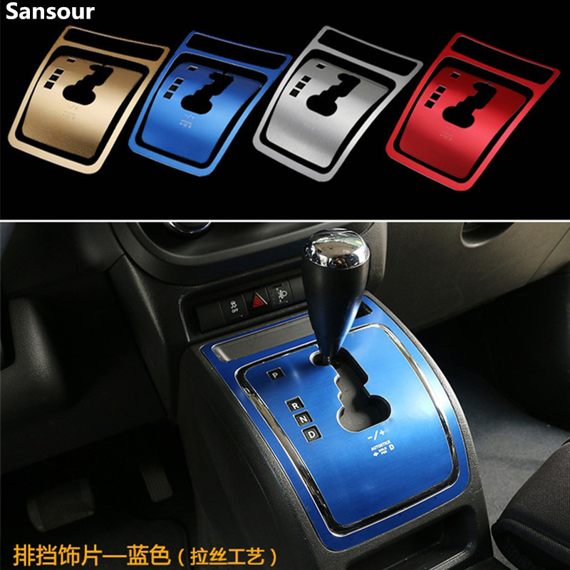 Sansour For Patriot 2011-2015 ABS Car Interior Gear Shift Panel Decoration Cover Trim Stickers For Jeep Compass 2010-2016