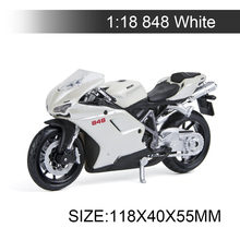 Maisto 1:18 Motorcycle Models Ducati 848 Model bike Alloy Motorcycle Model Motor Bike Miniature Race Toy For Gift Collection 1 10 maisto motorcycle toy alloy yamaha honda motorbike model racing motor miniature car models kids toys gift