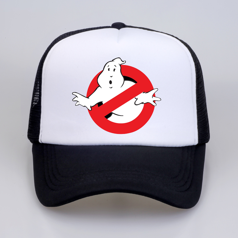 NEW Ghostbusters Movie   cap   Cartoon print   Baseball     caps   cool Summer Mesh Trucker   Cap   men Women Adjustable snapback hats gorra