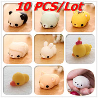 10 PCS Lot Kawaii Animal Slow Rising Squishy Panda Tiger Pig Sheep Duck Rabbit Chick Cute