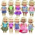 Arrvial 10 шт. / lot одежда и платье для mini келли симба barbie кукла