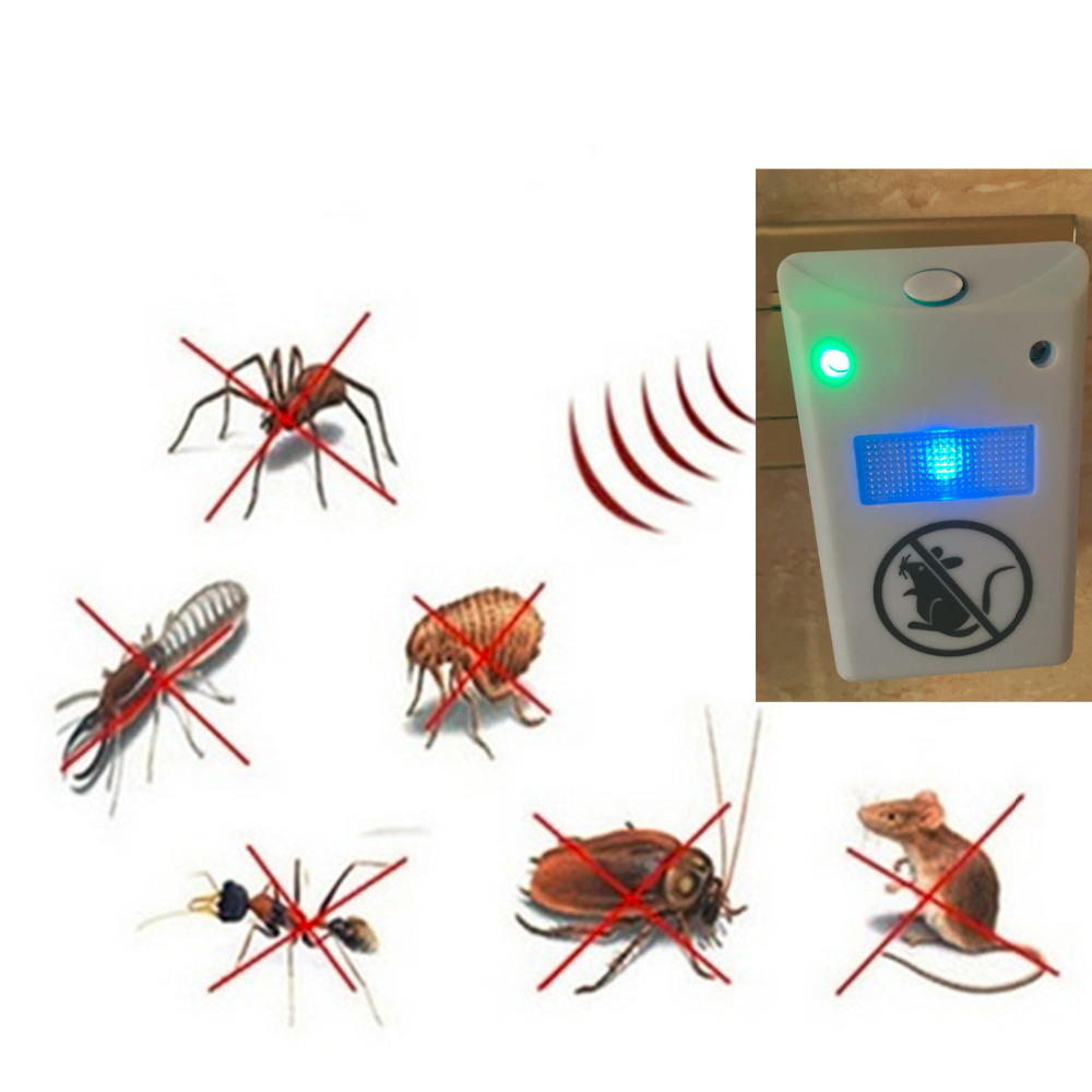 EU Plug Electronic Ultrasonic Rat Mouse Mice Repellent Rodent Pest Bug Reject Mole Mosquito Cockroaches Repeller