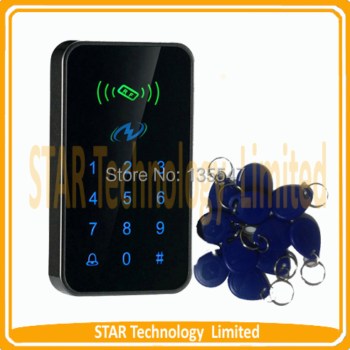ФОТО Free Shipping Touch Sensor Keypad - Standalone Proximity Card Access Controller 3000 UsersTouch Button Keypad