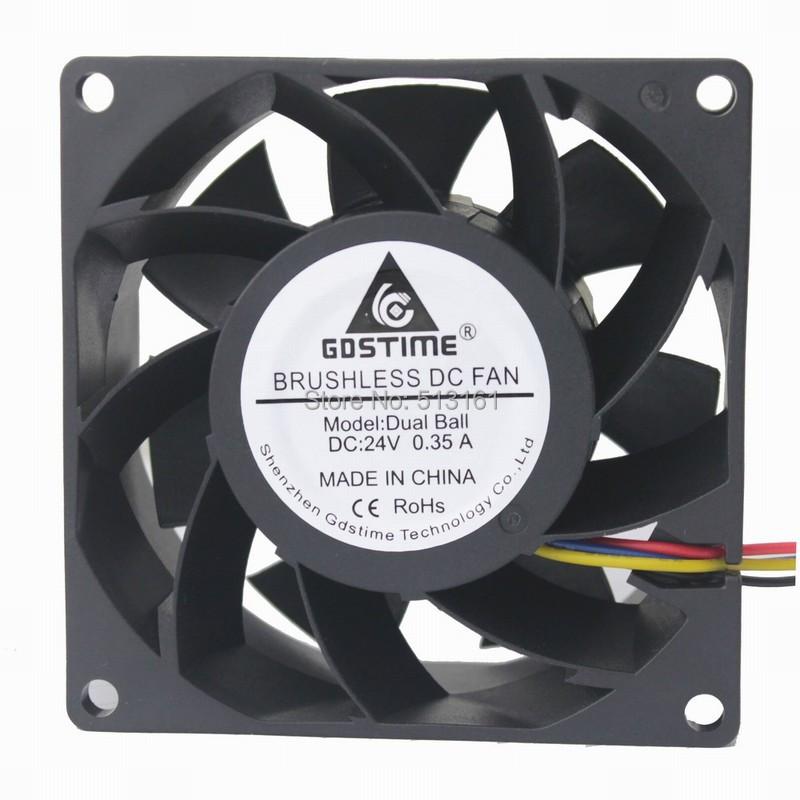 Gdstime 80x80x38mm DC 24 V Kugellager 8038 PWM 4 Pin Inverter Server Wasserdicht Cooling Fan