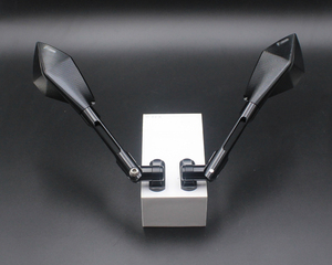 Image 2 - Motorcycle mirrors and mounting adapter ALL aluminum for YAMAHA YZF1000 R1 2002 2003 2004 2005 2006 2007 2008 rearview mirror