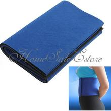 Waist Slimming Burn Fat Sauna Sweat Loss Weight Trimmer Exercise Belt Wide Blue Cycling Base Layers(China)