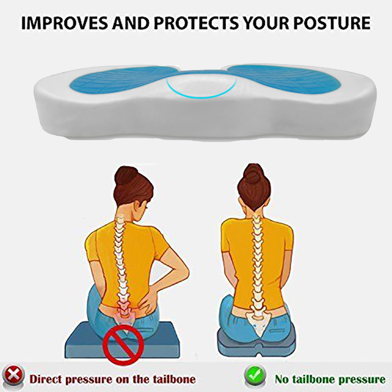 Image 5 - Orthopedic Egg Seat Sitting Cushion Gel Pillow Flex Sitter Flex Back Support Sit U shape memory cotton gel seat cushion Posture-in Massage & Relaxation from Beauty & Health