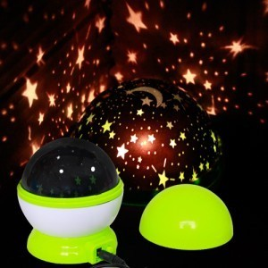 Rotatorio automático sueño luminoso de la lámpara del sueño luz del proyector romántico regalo de cumpleaños