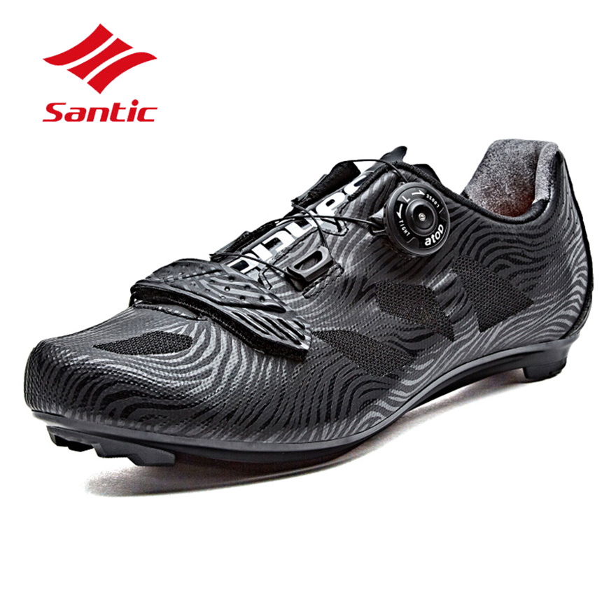 Santic Cycling Shoes Men 2018 Self-Locking Road Bike Shoes Breathable - Cycling - Photo 3