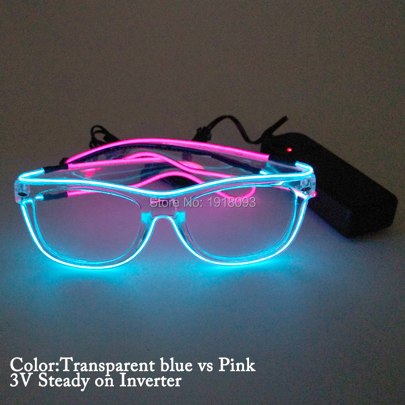 Wholesale Product New Style Double Color EL Wire Glasses Holiday ...