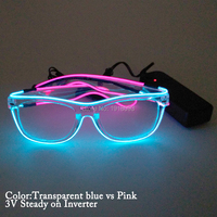 Wholesale Product New Style Double Color EL Wire Glasses Holiday Lighting Event Party Decoration 10pieces