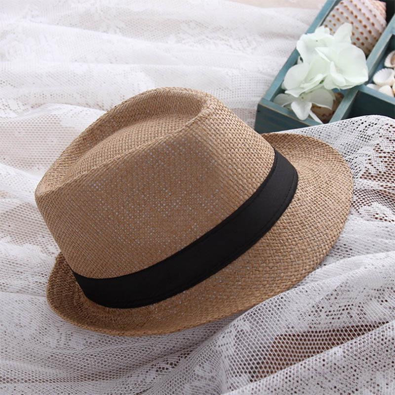 XINCAI 2018 Men Hat Foldable Summer UV Protect Travel Cap small Brim Floppy Straw  Sun Hat Casual Cap visor hat free shipping-in Sun Hats from Apparel ... 7909ca6e501