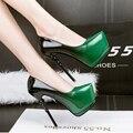 Синие вечерние туфли сексуальные насосы зеленые Высокие Каблуки женщин туфли на каблуках дамы Насосы розовые туфли шпильках каблуки свадебные туфли D981
