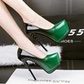 Azul noite sexy sapatos bombas verde sapatos de Salto Alto mulheres sapatos de salto alto senhoras Bombas sapatos rosa saltos stilettos sapatos de casamento D981