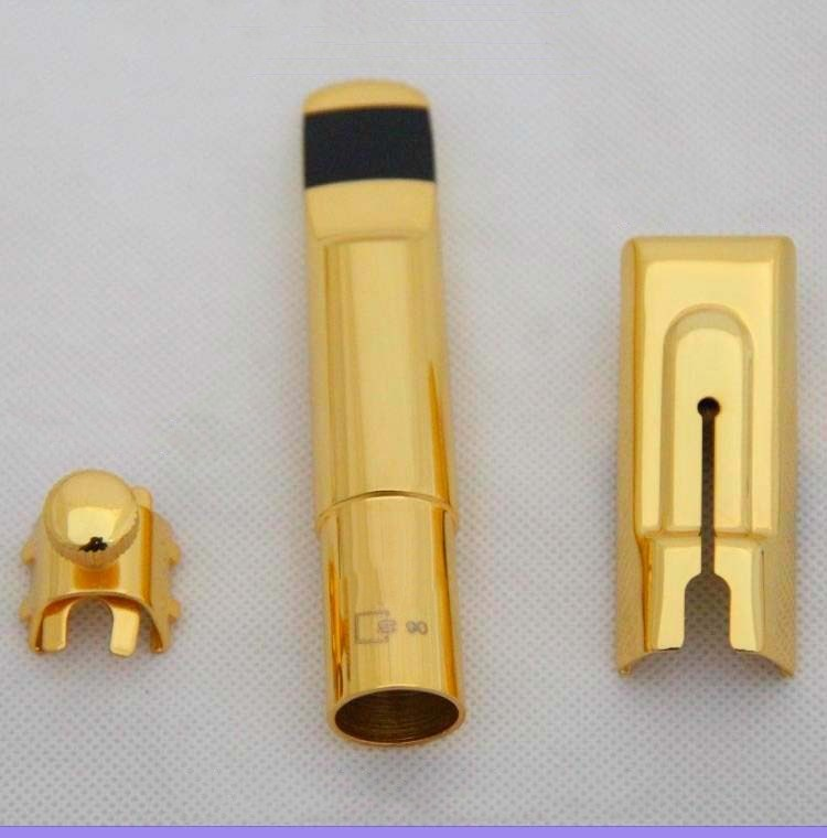 Genuine Mouthpiece S90 E flat Alto Saxophone Metal Head B flat Tenor Soprano Saxophone Golden Metal Mouthpiece free shipping new high quality tenor saxophone france r54 b flat black gold nickel professional musical instruments