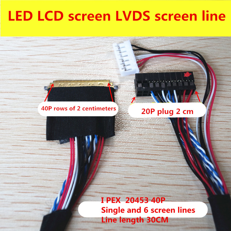 Notebook LED LCD LVDS ecran 2045 IPEX 20455 40 pini unic 6 300mm lungime