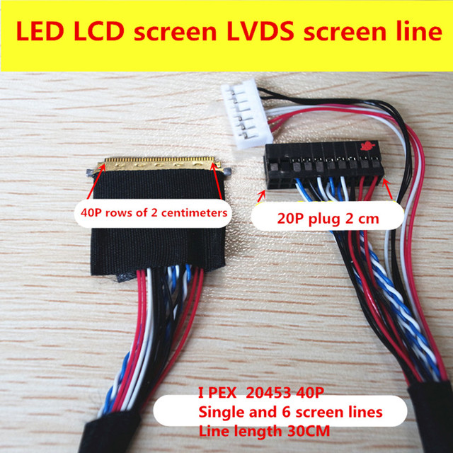 Ip E X 6 >> Notebook Led Lcd Lvds Screen 2045 Ipex 20455 40 Pin Single 6 300mm