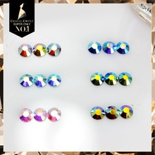 Crystal Castle 2038HF SS6-SS20 AB Effect Color Super Quality AAAAA Flat back Nail Glass Stone Rhinestone Hotfix Strass