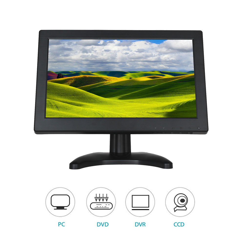 Eyoyo T1116 12 inch TFT LCD 1366*768 VGA/TV/AV TFT LCD Color Monitor For CCTV PC Security System зеркало со встроенным lcd tft дисплеем parkcity pc t35rc1