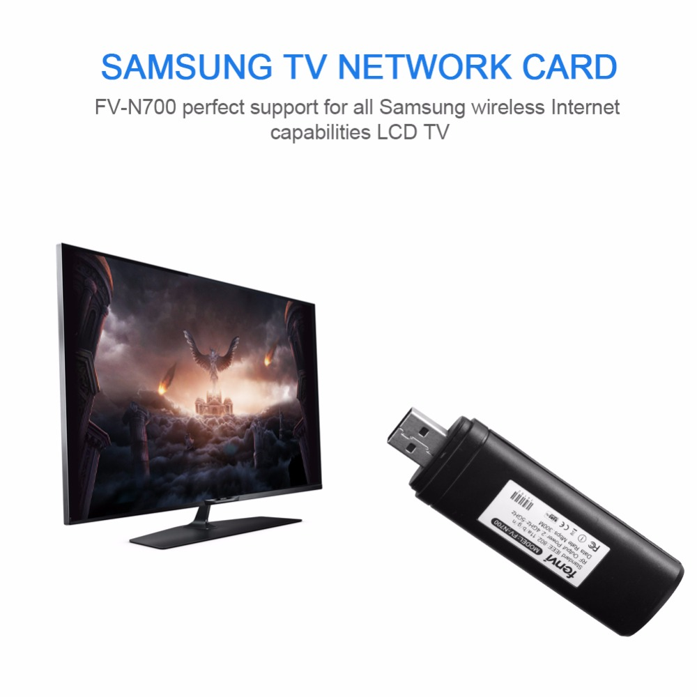 USB Wireless Wi-Fi Network TV Card WLAN LAN Adapter Wifi Dongle Receiver 2.4G 5G 300M for Samsung Smart TV WIS12ABGNX WIS09ABGN телевизор led 65 samsung qe65q7camux серебристый 3840x2160 wi fi smart tv rs 232c