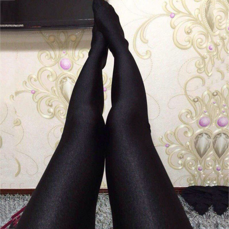 9c2475ff66687 High Quality Women Sexy Shiny Lustrous Black Leggings Pants Shaping Pants  Leggings Chinlon High Elastic Leggings-in Pants & Capris from Women's  Clothing on ...