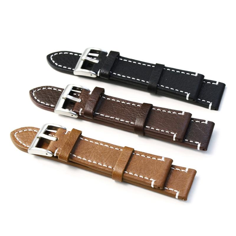 Prix pour Haute Qualité En Cuir Véritable Bracelets Bracelet Main de Bande de Montre Pour Hommes Montre 18 MM 19 MM 20 MM 21 MM 22 MM