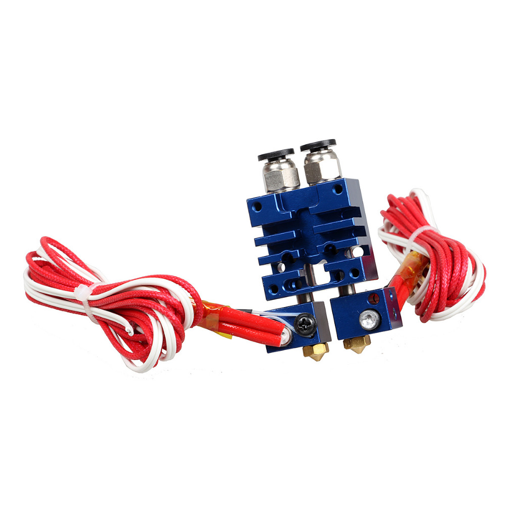 Free Shipping 3DSWAY 3D Printer Parts Improved Version 2 In 2 Out Hotend Dual Color SwitchingHotend Kit 0 4mm 1 75mm with heater in 3D Printer Parts Accessories from Computer Office