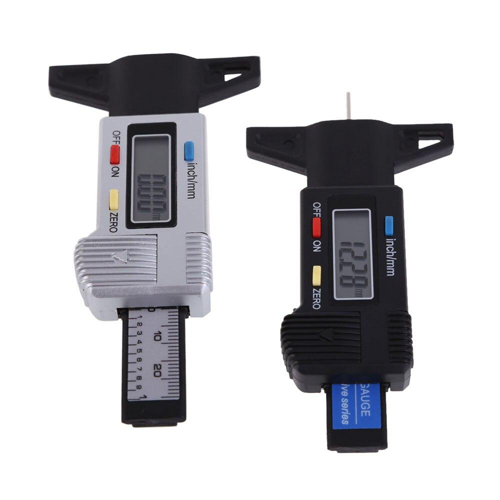 New Car Tyre Digital Tread Brake Pad Shoe Gauge Depth Tester Guage LCD Display Car Tire Diagnostic Tools ME3L  цены