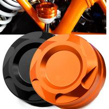 цена на motorcycle cnc orange front&rear brake master Front Master Cylinder Cover For KTM DUKE 690 200 390 RC200 RC390 2012 2013 2014