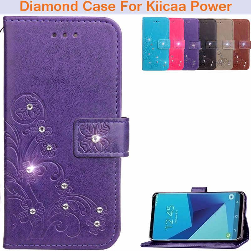 BEFOSPEY алмаз горный хрусталь четыре листа листья чехол для телефона из искусственной кожи для Leagoo Kiicaa мощность