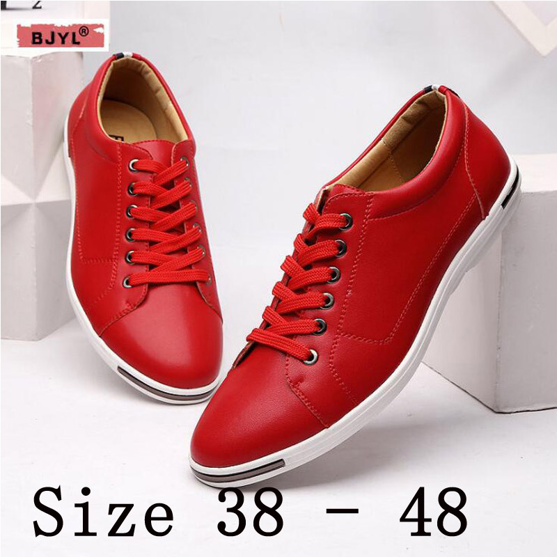 BJYL Small white shoes male large size new Korean version trend joker casual student autumn sports shoes white flat shoes