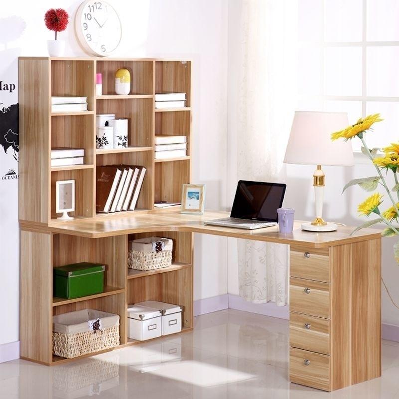 Libreria Ad Angolo Con Scrivania.Computer Desktop A Casa Scrivania Angolo Libreria Combinazione Con