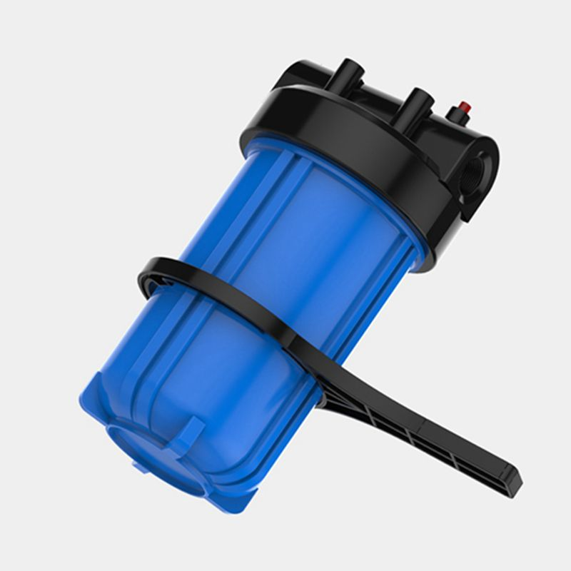 10 Big Fat Blue Water Filter Housing With Port 1 Filter Bottle Whole House Central Pre-Filter Cartridge Free RO Wrench цена
