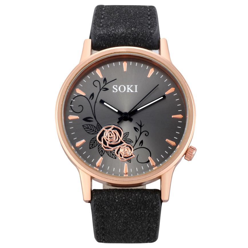 Elegant Dial Watches Women Luxury Bracelet Watch Dress Female Leather Montre Femme Quartz Wristwatches Relogio Feminino Gift #C