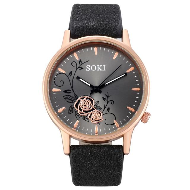 Elegant Dial Watches Women Luxury Bracelet Watch Dress Female Leather montre fem