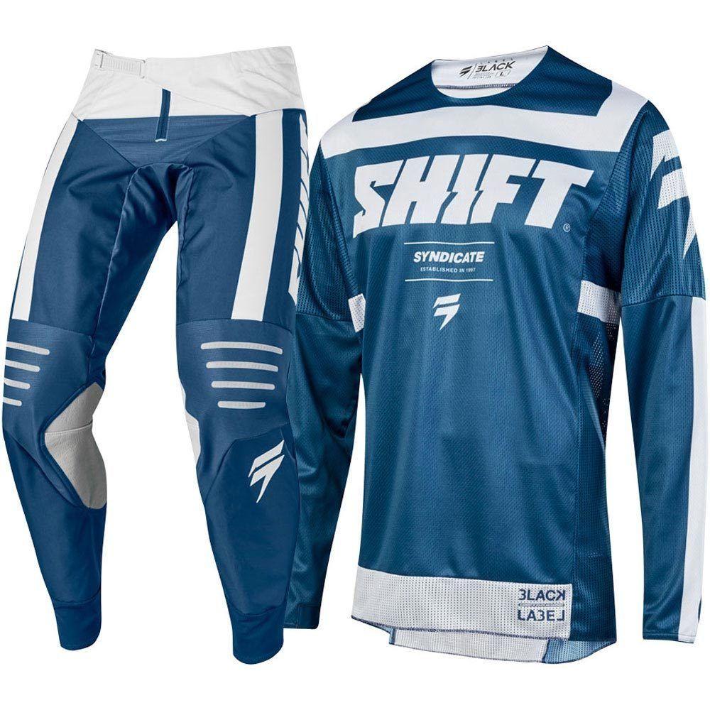 2019 New for 3LACK BLUE LABEL MAINLINE MOTOCROSS MTB KIT BLUE MX MTB DH Downhill Offroad Motocross Kit Motocross Suit roupa de motocross preço