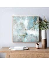 Ручная работа абстрактный скандинавский стиль Золотой И Зеленый картина маслом на холсте Скандинавия искусство настенные картины для гост