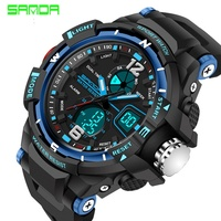 New Fashion SANDA Brand Children Watch Sports Watch LED Digital Quartz Watch Boy Girl Student Multi