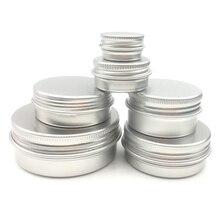10 個アルミニウム金属化粧品詰め替え容器プロ化粧品容器クリームジャーポットボトル 5 グラム/15 グラム/30 /50 グラム/60 グラム 15