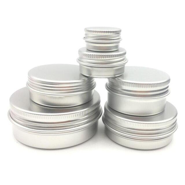 10 adet alüminyum Metal kozmetik doldurulabilir konteyner profesyonel kozmetik kabı krem kavanoz Pot şişe 5g/15g/30 /50g/60g  15