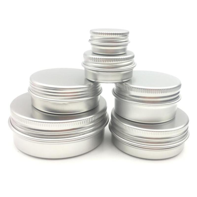 10pcs Aluminum Metal Cosmetic Refillable Container Professional Cosmetics Container Cream Jar Pot Bottle 5g/15g/30 /50g/60g -15