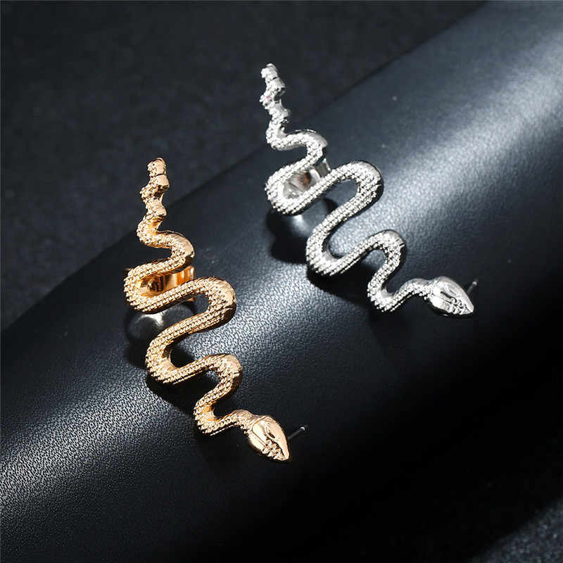 1 PC Vintage Übertreibung Cobra Schlange Ohrringe für Frauen Männer Schmuck Punk Tier Ohr Stud Handmade Stud Ohrringe E232