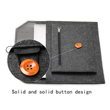 Elegant Three-Colored Wool Felt Sleeve Laptop Bag