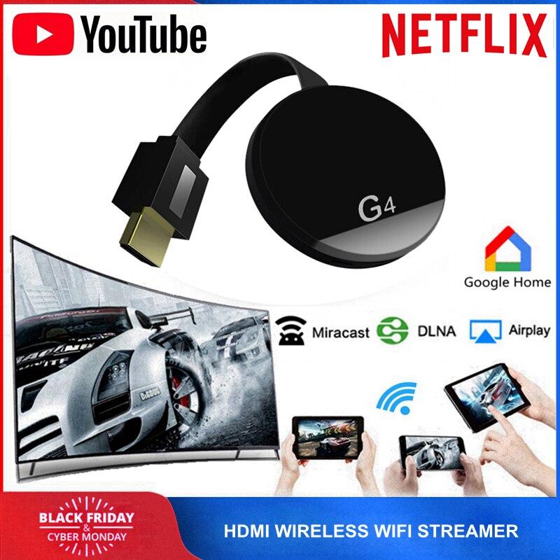 HDMI WiFi inalámbrico TV Dongle Miracast Airplay YouTube, Netflix Streamer Google Chromecast 2 Cromecast cromo fundido 2 3