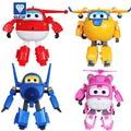 Brinquedos 4 unids/set Súper Alas CarsTransformation Robots Figuras de Acción Juguetes Aviones Juguetes