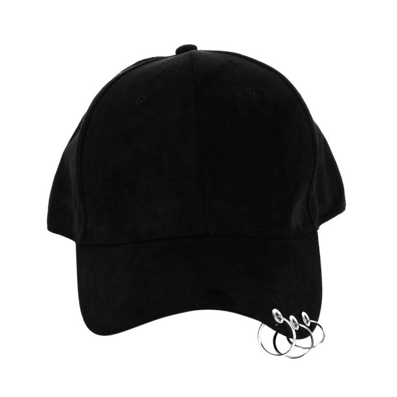 Women Cap Fashion Baseball Cap with Rings Snapback Cap Men Women Hip Hop Hat Dance Show Hats Cap Men 1