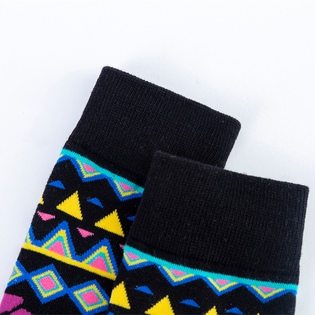 Hot Sale Casual Men's Crew Dress Skateboard Socks New Fashion Design Colorful happy Business Party Cotton Socks For Male 6