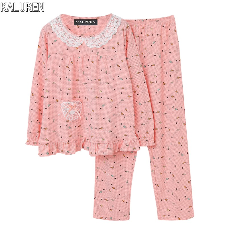 Top Free Shipping Sleepwear M 4Xl Female Spring And Autumn -6779